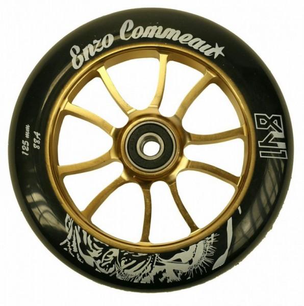 841 Scooter Wheel Enzo 125mm Gold inkl Titen Abec 9 Bearings