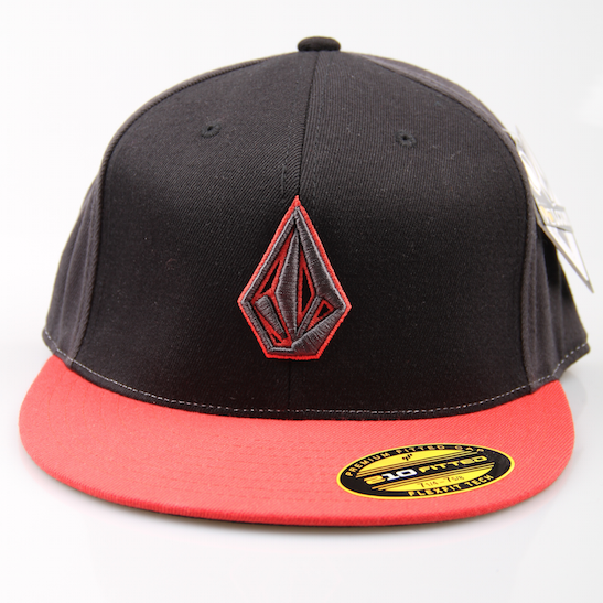 Volcom Cap 2 Stone 210 Fitted Hat Black / Red / Grey