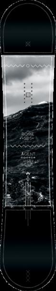Rome Snowboard Agent Rocker Midwide 158