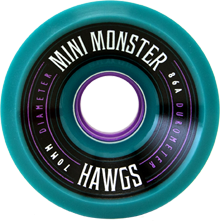 Hawgs Longboard Wheels Mini Monsters 70mm 86a Teal