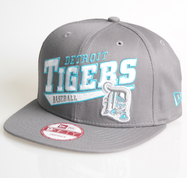 New Era Cap 9-Fifty Snapback Skew Script Tigers Detroit grey