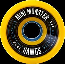 Hawgs Longboard Wheels Mini Monsters 70mm 82a Yellow