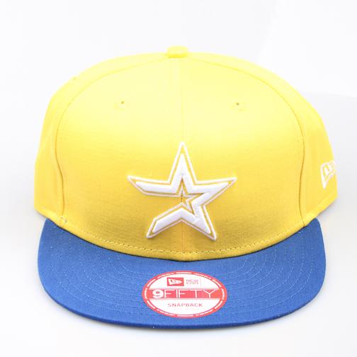 New Era Cap 9-Fifty Snapback Houston Cotton Block 2 yellow/blue