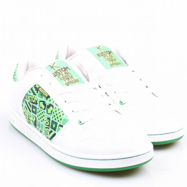 Kustom Schuhe Kadet white/green