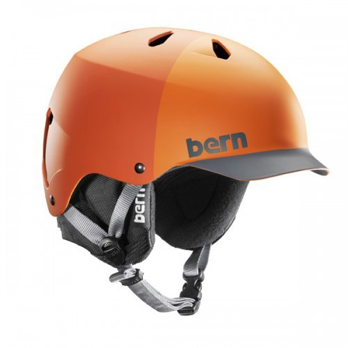 Bern Helm Watts EPS Orange Hatstyle with Cordova Liner