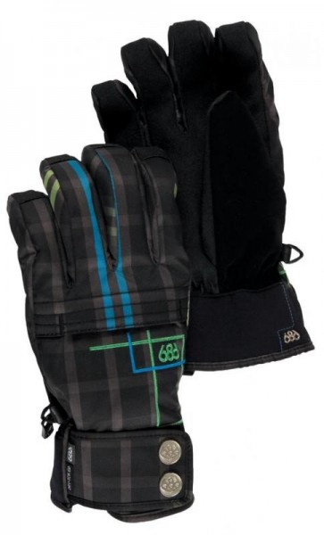686 Profile Insulated Gloves plaid
