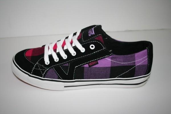 Vans Girls Schuhe Tory Buff Plaid *black/purple*