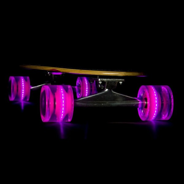 Sunset Skateboard Co. Purple LED Skateboard Wheels 65mm 78a