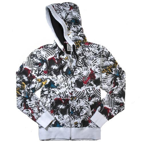 Fox Hooded Zipper Dr. Morphine white