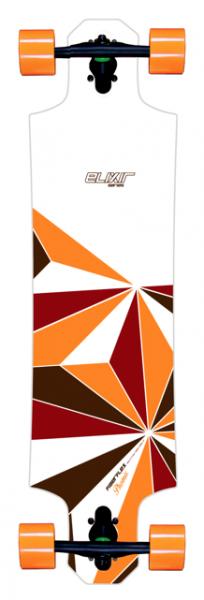 Elixir Longboard Complete Phoenix White