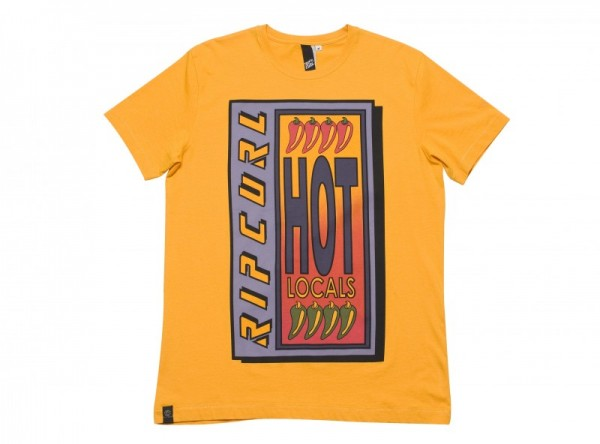 Rip Curl T-shirt Hot Local cadmium yellow