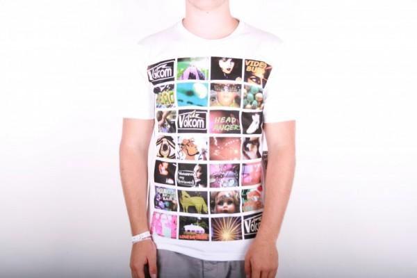 Volcom T-Shirt Skullux Video White