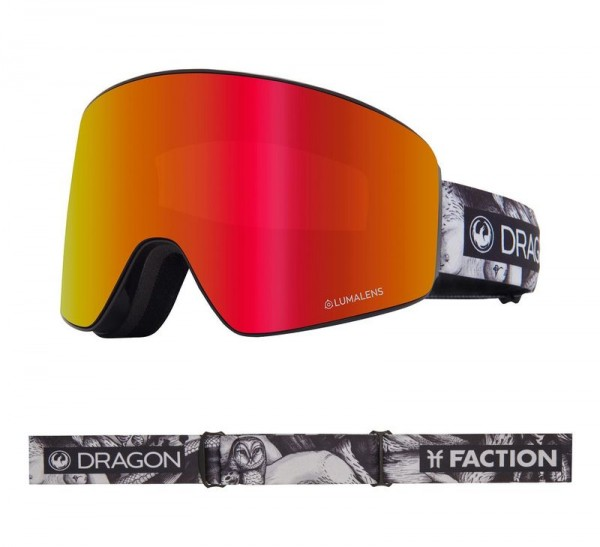 Dragon Goggle PXV - Faction with Lumalens Red Ionized + Lumalens Rose Lens