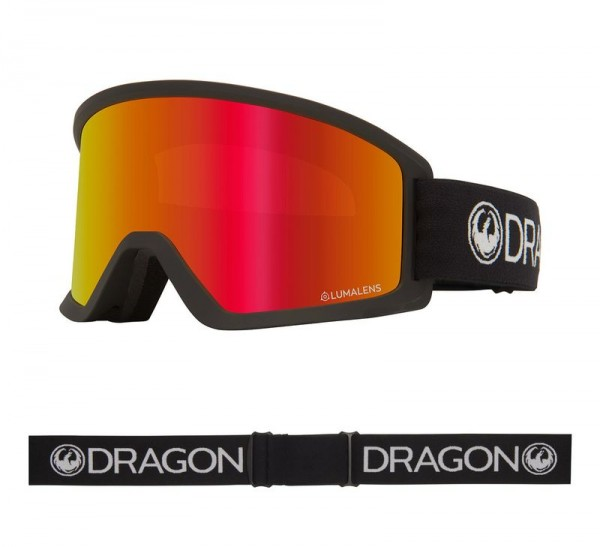 Dragon Goggle DX3 OTG - Black with Lumalens Red Ionized Lens