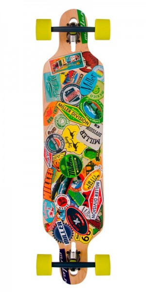 Miller Longboard Travel Stickers 38""