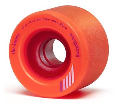 Orangatang Longboard Wheels The Keanu 66mm 80a Orange