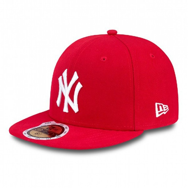 New Era Cap 59-Fifty MLB League Basic New York Yankees Scar/Wht *Youth*