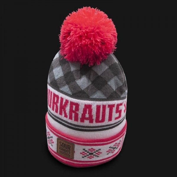 Sourkrauts Bobblehat grey pink