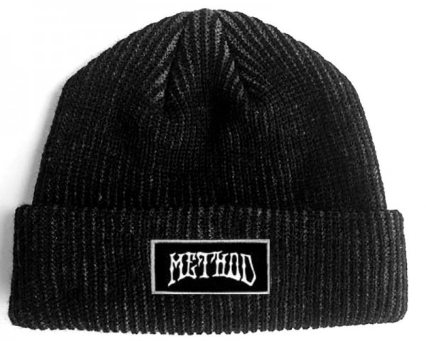 Method Beanie Logo black grey