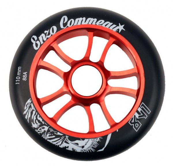 841 Scooter Wheels Enzo 100mm Red inkl. Titen Abec 9 Bearings