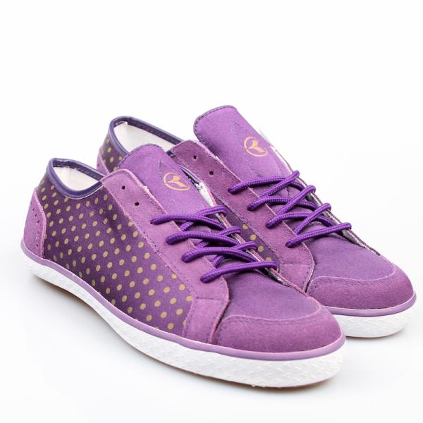 Kustom Schuhe Gemma violett / gold *Ladys*