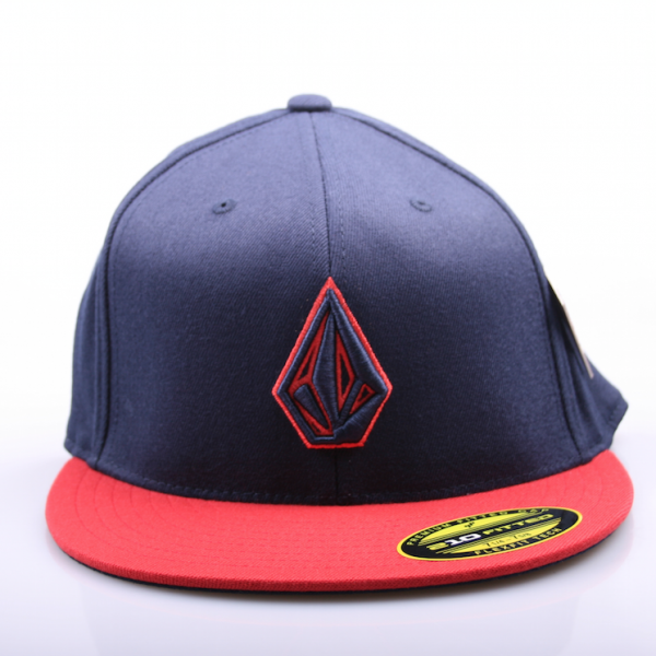 Volcom 2 Stone 210 Fitted Hat Red/Blue
