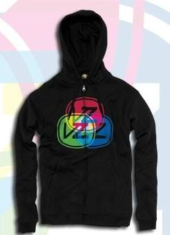 Vonzipper Zip Hooded Spectral black