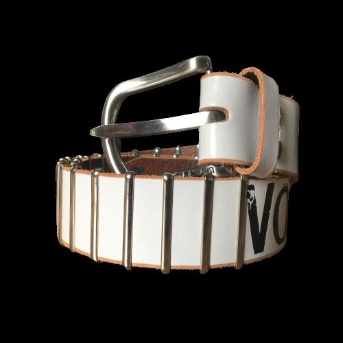 Volcom Leather Belt Bissell White