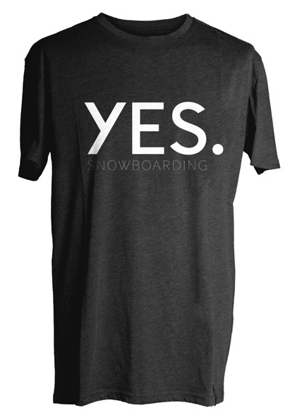 YES Snowboarding T-Shirt black