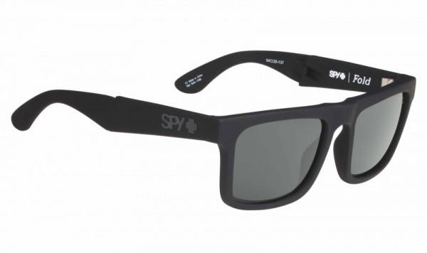 Spy Sunglass The Fold Soft Matte Black - Happy Gray Green