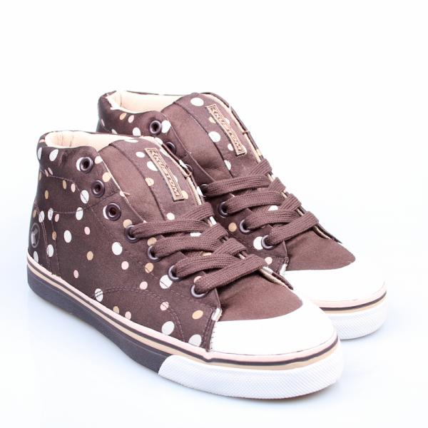 Kustom Ladys Schuhe Erica brown/polka