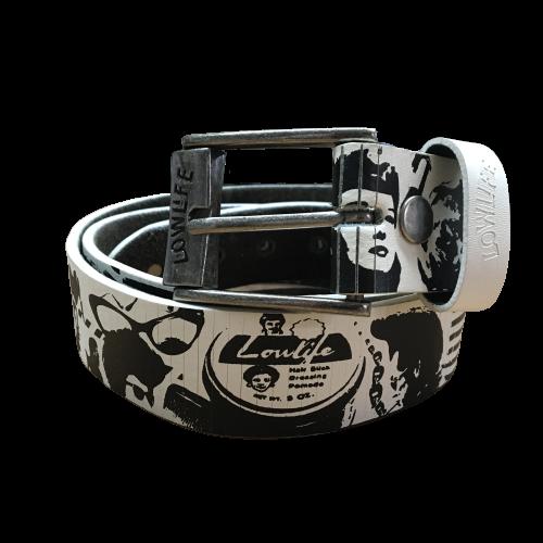 Lowlife Belt Black/White