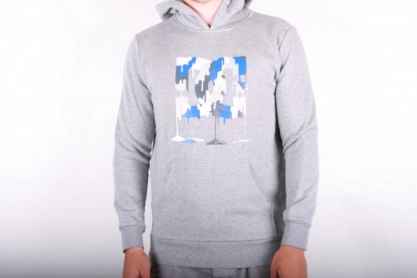 DC Girly Hoodie Logo Grey/White/Blue