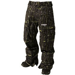 Volcom Snow Pant Entities black painted plaid