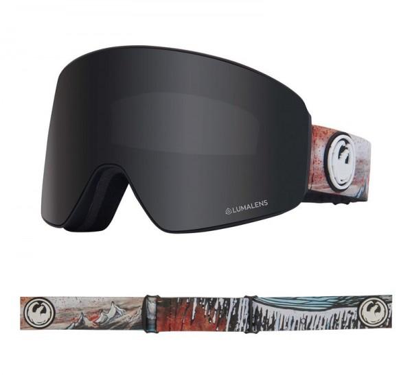 Dragon Goggle PXV Bryan Iguchi Signature with Lumalens Dark Smoke + Lumalens Flash Blue Lens