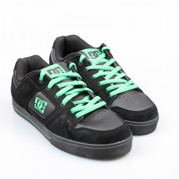 DC Schuhe Pure Slim Carbon/Emerald (CBE)