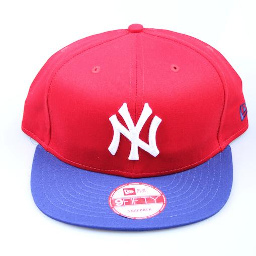 New Era Cap 9-Fifty Snapback Cotton Block New York scarlet/royal