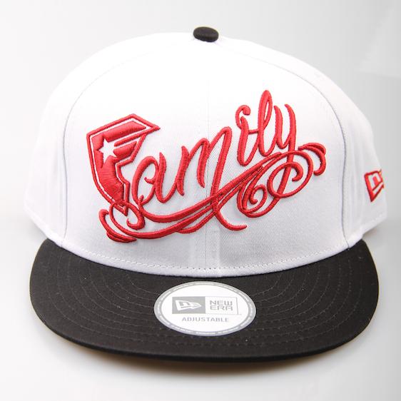 Famous Cap Family Snapback White Black Red