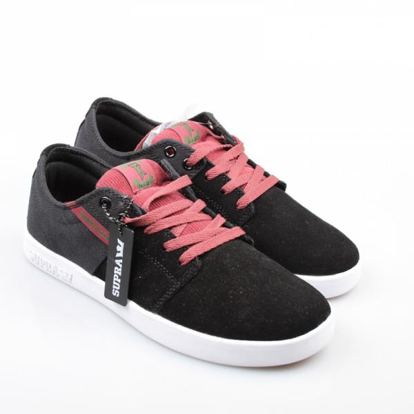 Supra Schuhe Stacks Black/Burgundy-White