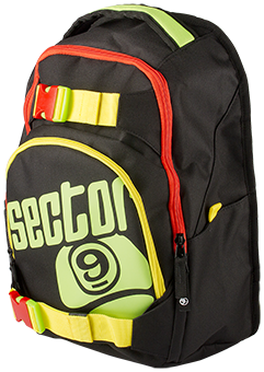 "Sector 9 Backpack ""Pursuit"" - Rasta"
