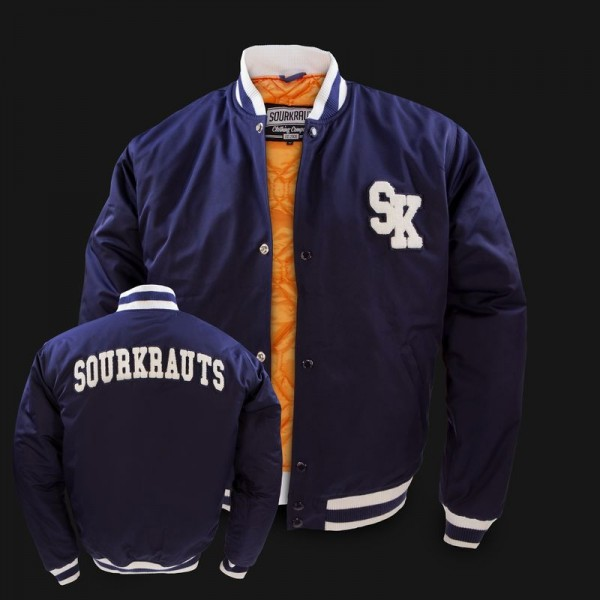 Sourkrauts Baseball Jacke Logan navy