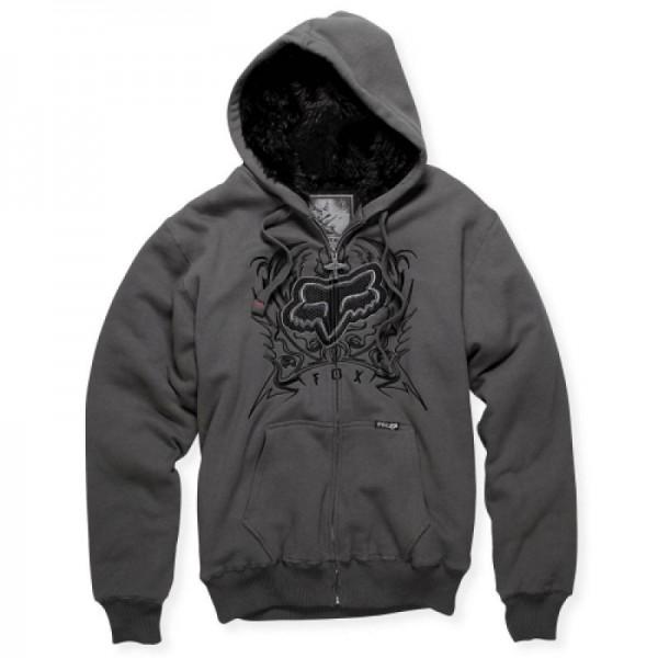 Fox Brando Sasquatch Zip Front Fleece charcoal