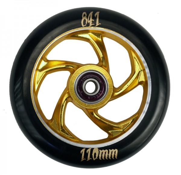 841 Forged 5-Star III Wheel Gold inkl Titen Abec 9 Bearings