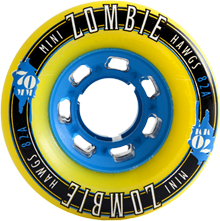 Hawgs Longboard Wheels Mini Zombies 82A 70mm - Yellow