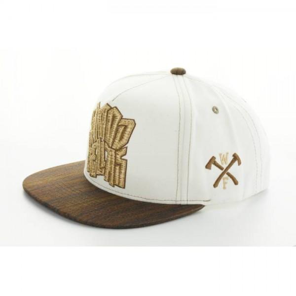 Wood Fellas Cap Snapback Logo white
