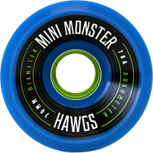 Hawgs Longboard Wheels Mini Monsters 70mm 78a Blue