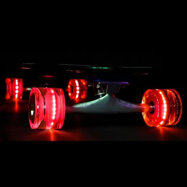 Sunset Skateboard Co. Red LED Skateboard Wheels 65mm 78a