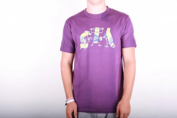 Cleptomanicx Powerbar Purple T-shirt