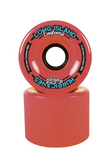 "Long Island Longboard Wheels ""Freestyle Hurricanes"" 71mm 83a - Red"