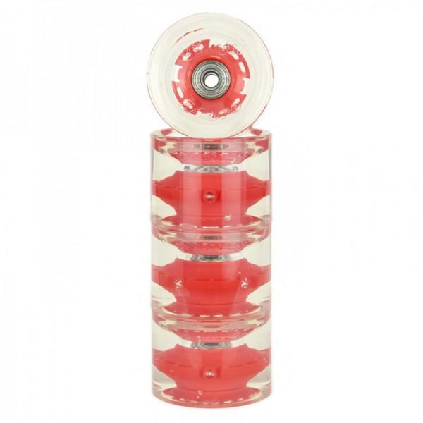 Sunset Skateboard Co. Red LED Skateboard Wheels 69mm 78a